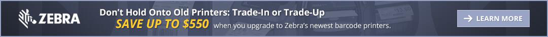 zebra trade in or trade up banner