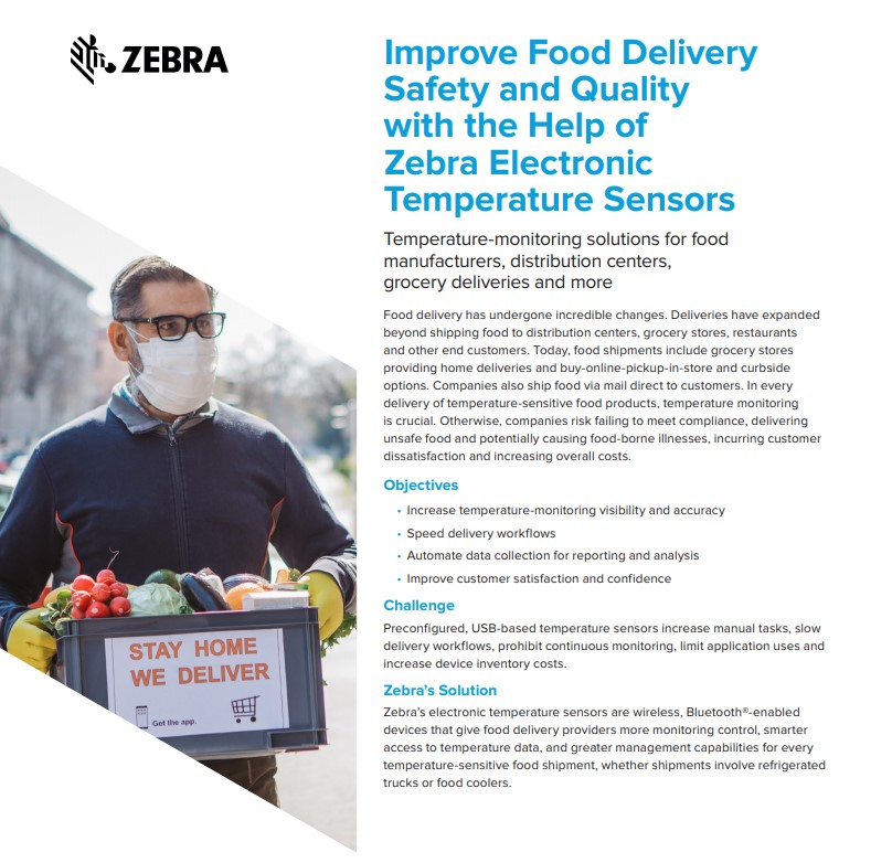 Cover Improve food delivery safety and quality