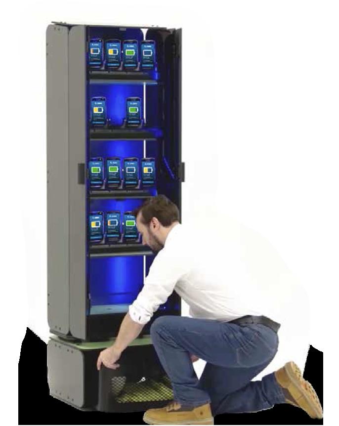 Man installing the intelligent cabinet