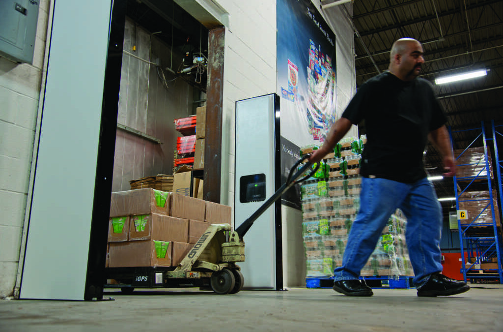 Warehouse worker pulling a pallet